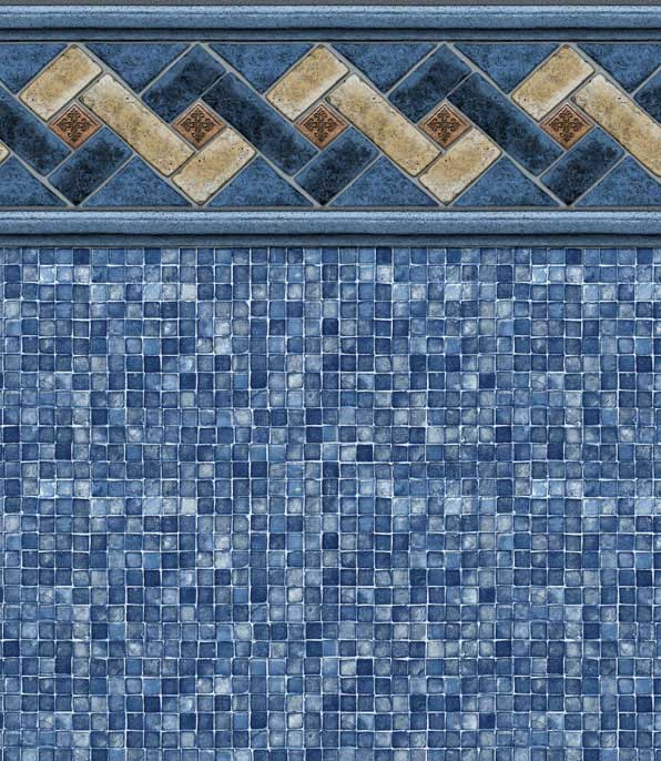 MountainTop/Blue Mosaic Pool Liner