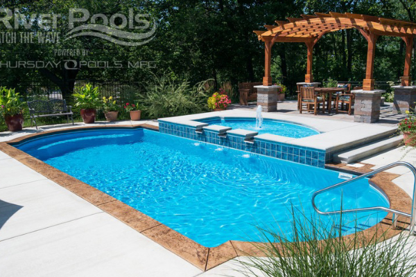 One piece fiberglass pools the pool people of ohio for One piece inground swimming pool