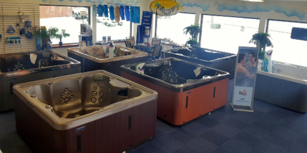 The Pool People of Ohio Hot Tub Showroom